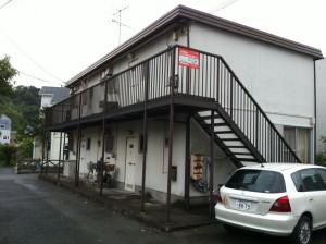 神奈川県三浦郡 鉄骨造2階建アパート 解体工事before